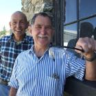 Simon Monckton (left)  and Bob Fox, of Roxburgh, are recommending people look at the option of...