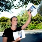 Sinead Linwood, niece of missing woman Denise Potter, delivers leaflets to households in High St,...