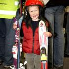 Josh Watson (2) was one of many bargain-hunters who flocked to the Wakatipu Ski Club's annual...