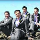 Steven Turnbull (front) and his groomsmen. Steven married Madelene Kinraid in February in Dunedin...