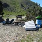 Some of the $4000 of damage caused to the Briar's Gully  campsite  at Labour Weekend.