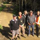 Some of the team working on  the 73km Clutha Gold Cycle Trail from Lake Roxburgh Village to...