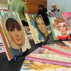 Some of the vintage Vogue magazines the Dunedin Public Library owns are displayed for a Followers...