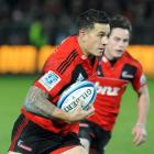 Sonny Bill Williams on attack against the Sharks. Credit:NZPA / Ross Setford.