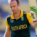 South Africa captain AB de Villiers was out for 99 against the United Arab Emirates. REUTERS...