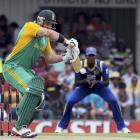 South Africa's Graeme Smith plays a shot during their second one-day international against Sri...