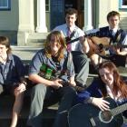 South Otago High School Smokefree Rock Quest regional finalists are (front, right) solo artist...