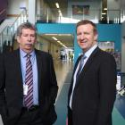 Southern District Health Board deputy commissioner Richard Thomson (left), of Dunedin, and Health...