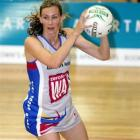 Southern Steel's Adine Wilson in action against the Northern Mystics in their ANZ championship...