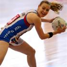 Southern Steel wing attack Adine Wilson in action against the Central Pulse in their ANZ...