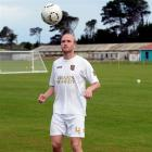 Southern United defender Jude Fitzpatrick trains at Tahuna Park on Thursday night. Photo by Linda...