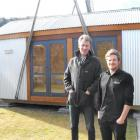 Space Moveable Rooms architect Maarten Hofmans (left) and general manager Ben McGill stand...