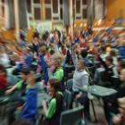 A scene from the Otago Daily Times Extra! Spelling quiz at Tahuna Intermediate. Photo by Jane...
