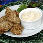 Spicy in breadcrumbs and sesame seeds, these chicken bites are always popular. Photo by Linda...