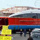 Spirit of Queenstown is moved  from Earnslaw St into Dee St, in Invercargill, yesterday on its...