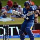 Sri Lanka batsman Mahela Jayawardene on his way to a century against Afghanistan in their World...