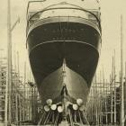SS Maheno in dry dock in 1905.  Maheno (5282 gross register tonnage) was the Union Steam Ship...