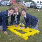 St Andrew's College pupils Meg Longley (left), of Christchurch, Izzy Pringle, of Ohoka, and Ella...