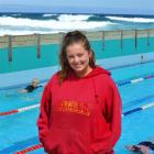 St Clair Salt Water Pool lifeguard Katherine Graham. Photo by Christine O'Connor.
