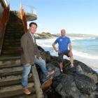 St Clair surfers Dr Richard Egan (left) and John de Graaf are part of the new St Clair Action...
