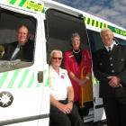 St John Otago Southland area committee relationship manager Darrel Robinson (left), health...