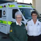 St John Tapanui station manager Anne-Marie Tamblyn (left) and emergency medical technician Janet...