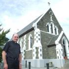 St Joseph's Catholic Church priest Tony Harrison outside the Queenstown Catholic church this week...