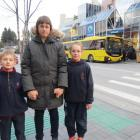 St Joseph's School board chairwoman Gigi Hollyer, with children Anthony (7) and Caitlin (9), is...