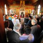St Michael's Orthodox Church in Dunedin overflows as people gather to farewell the Very Rev...
