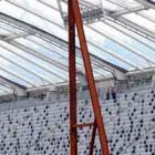 Seating in place in the north stand.