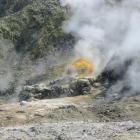 Steam rises from the Campi Flegrei. Photo Wikimedia Commons