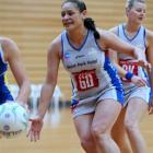 Steel defender Sheryl Scanlan chases the ball during a warm-up game against the Otago development...