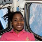 Stephanie Wilson orbits above Earth. Photo by NASA.