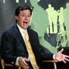 Stephen Colbert of Comedy Central's 'The Colbert Report', is shown during an interview at The...
