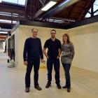 Stephen (left), Michael and Kelly MacKnight in the newly renovated Donald Reid warehouse this week.