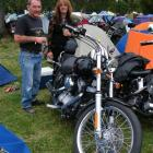 Steve and Leanne Stewart, of Alexandra, with their Harley-Davidson at the Vincent County...
