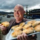 Steve Hotton with some of his popular merino meat pies. Photos by Gerard O'Brien.