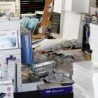 Stock in an art shop strewn around in Manchester Street, after the 6.0 earthquake. Credit:NZPA /...