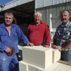 Stonemasons John (left), Bill and Kerry Dooley are aghast about the Central Otago District...