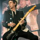Keith Richards plays with the Rolling Stones at Western Springs, Auckland. Photo from NZ Herald.