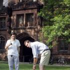 Students play croquet on the campus of Princeton University, which has been ranked as the top...