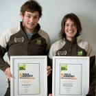 Successful directors University of Otago science communication students Nick Holmes and Jinty...