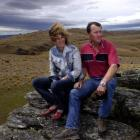 Sue and John Elliot on their property in the Lammermoor Range. Photo by Craig Baxter.