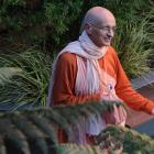 Swami Janananda Goswami in Dunedin yesterday. Photo by Craig Baxter