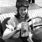 Sybil Lupp prepares for another race. Photo from ODT archives.