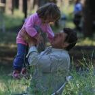 Syrian refugees seen in a camp set up by the Turkish Red Crescent in the Turkish town of...