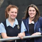 Taieri College Manu Pounamu Young Achievers' Award winners  Riana Haua (15, left) and Renata Kerr...