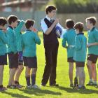Taieri College pupil  and East Taieri Primary School rugby team coach Christian Henderson (16)...