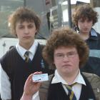 Taieri College pupils (from left) Shaun (16), Kayne (15) and Josh (13) Anderson say using public...