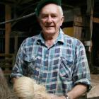 Templeton Mill Heritage Museum Trust chairman Des Templeton, of Riverton, with fibre made from...